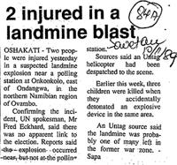 2 injured in landmine blast