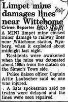 Limpet mine damages lines near Wittebome