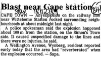 Blast near Cape station
