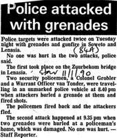 Police attacked with grenades