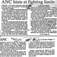 ANC hints at fighting limits