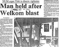 Man held after Welkom blast