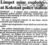 Limpet mine explodes at Kokstad police station