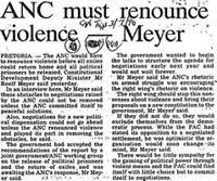 ANC must renounce violence-Meyer