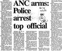 ANC arms: Police arrest top official
