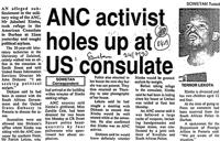 ANC activist holes up at US consulate