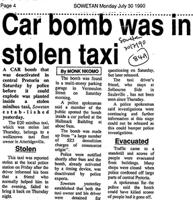 Car bomb was in stolen taxi