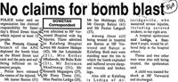 No claim for bomb blast