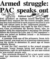 Armed struggle: PAC speaks out