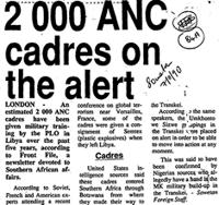 2000 ANC cadres on the alert