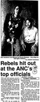 Rebels hit out at the ANC's top officials