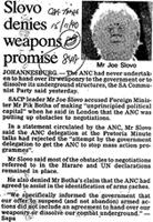 Slovo denies weapons promise