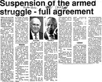 Suspension of the armed struggle-full agreement