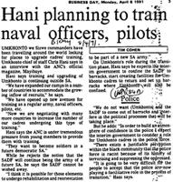 Hani planning to train naval officers, pilots