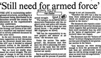 'Still need for armed force'