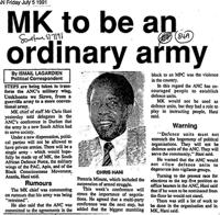 MK to be an ordinary army