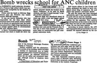 Bomb wrecks school for ANC children