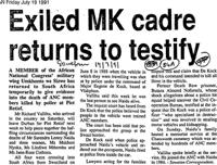 Exiled MK cadre returns to testify