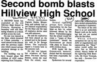 Second bomb blasts Hillview High School