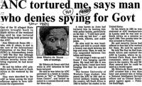 ANC tortured me, says man who denies spying for govt
