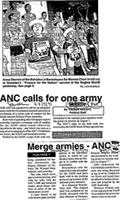 ANC calls for one army