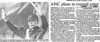 ANC plans to expand army
