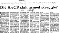 Did SACP sink armed struggle?
