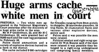 Huge arms cache- white men in court