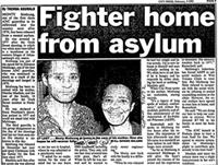 Fighter home from asylum
