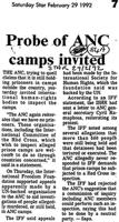 Probe of ANC camps invited
