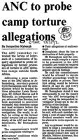ANC to probe camp torture allegations