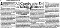 ANC probe asks: Did we torture detainees?