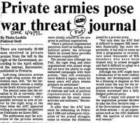 Private armies pose war threat -journal