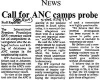 Call for ANC camps probe