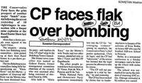 CP faces flak over bombing