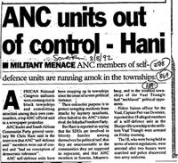 ANC units out of control-Hani