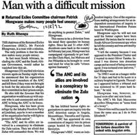 Man with a difficult mission