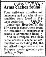 Arms caches found