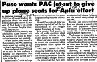 Paso wants PAC jet-set to give up plane seats for Apla effort
