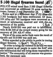 5 500 illegal firearms found