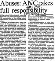 Abuses: ANC takes full responsibility