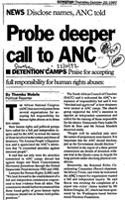 Probe deeper call to ANC