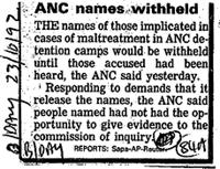 ANC names withheld
