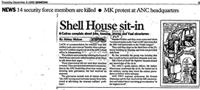 Shell House sit-in