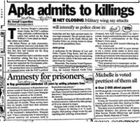 Apla admits to killings