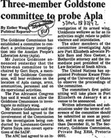 Three-member Goldstone committee to probe Apla