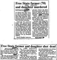 Free State farmer (70) and daughter murdered