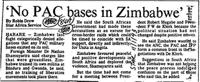 'No PAC bases in Zimbabe'