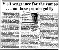 Visit vengeance of the camps ... on those proven guilty