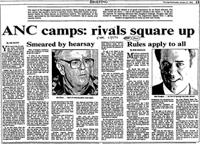 ANC camps: rivals square